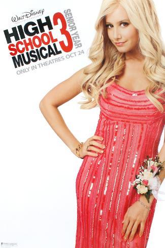 High School Musical 3: Senior Year (Zac Efron, Vanessa Hudgens, Ashley Tisdale) Movie Poster Original Poster