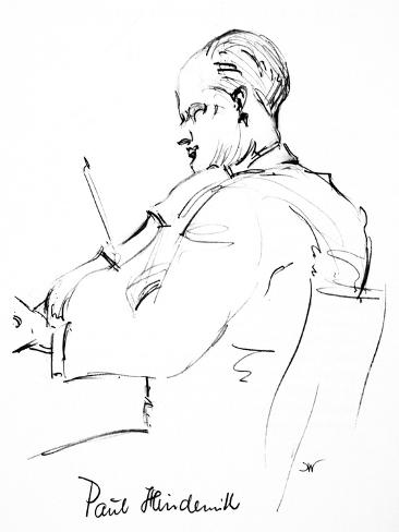 Paul Hindemith (1895-1963) Giclee Print