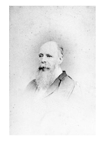 Charles Darwin (B/W Photo) Stretched Canvas Print
