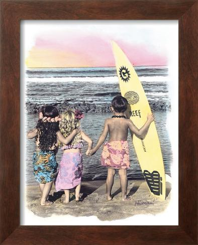 Surf Keikis Framed Giclee Print