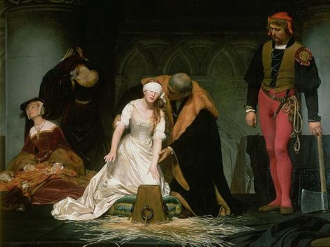 The Execution of Lady Jane Grey, 1833 Giclee Print