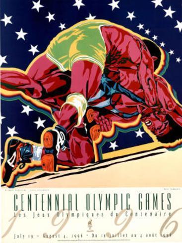 Olympic Wrestling, c.1996 Atlanta Poster