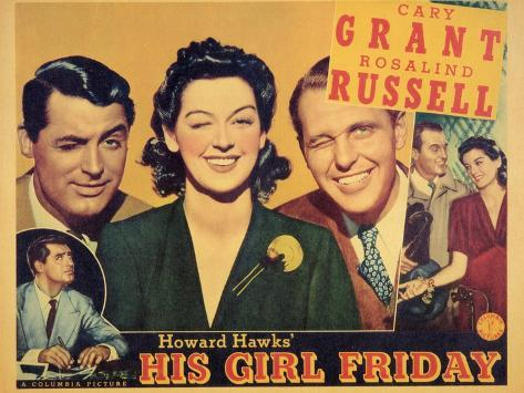 His Girl Friday, 1940 Art Print