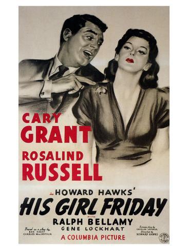 His Girl Friday, 1940 Premium Giclee Print