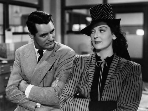 His Girl Friday, Cary Grant, Rosalind Russell, 1940 Foto