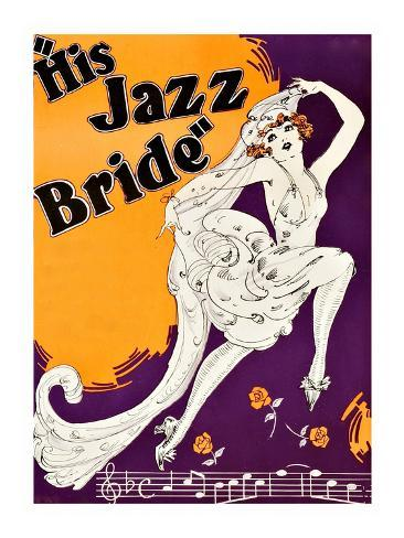 His Jazz Bride Art Print
