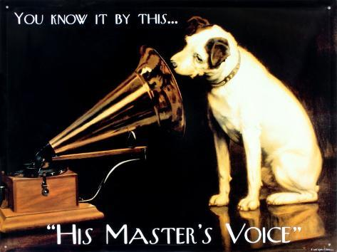 his masters voice tin sign. Black Bedroom Furniture Sets. Home Design Ideas