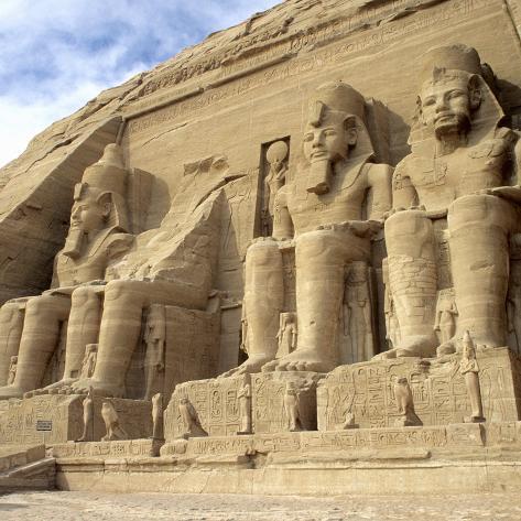 Ramses II Temple, Abu Simbel, Aswan, Egypt Photographic Print