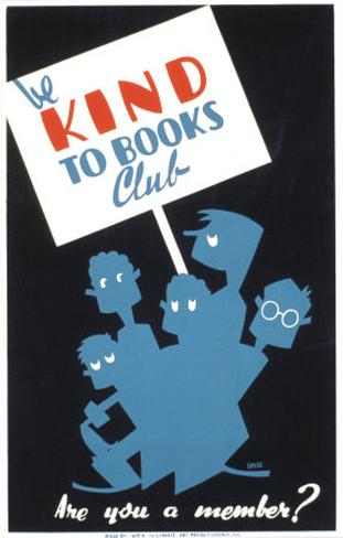 Historic Reading Posters - Be Kind To Books Club Art Print