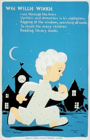 Historic Reading Posters - Wee Willie Winkie Art Print