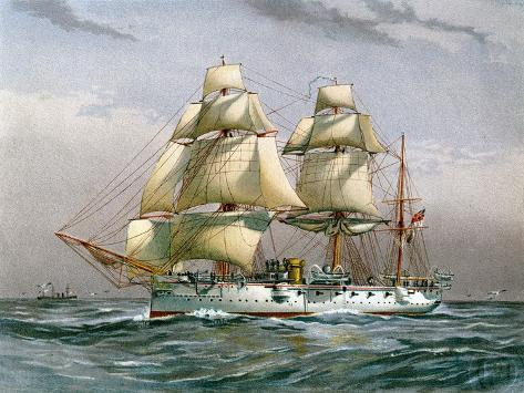 HMS Calliope, Royal Navy 3rd Class Cruiser, C1890-C1893 Giclee Print