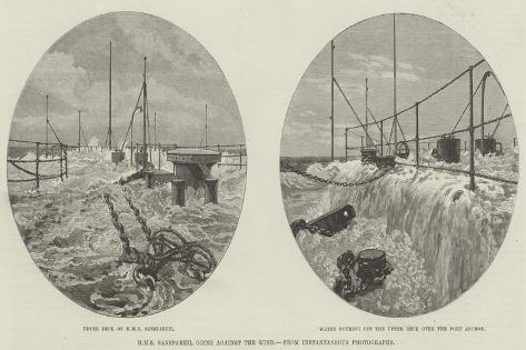 HMS Sanspareil Going Against the Wind Stampa giclée