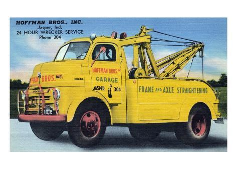 Hoffman Brothers Inc. 24 Hour Wrecker Service Art Print