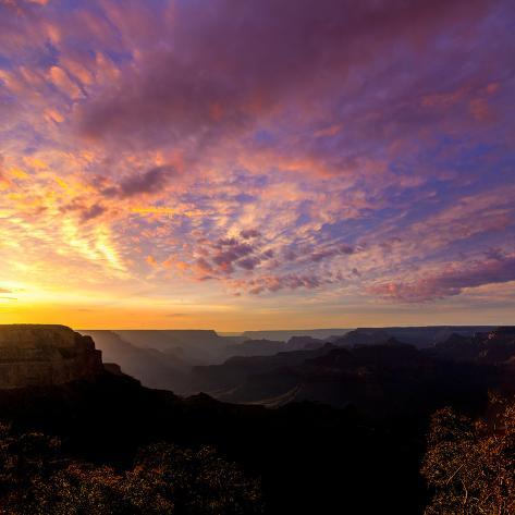 Arizona Sunset Grand Canyon National Park Yavapai Point USA Photographic Print