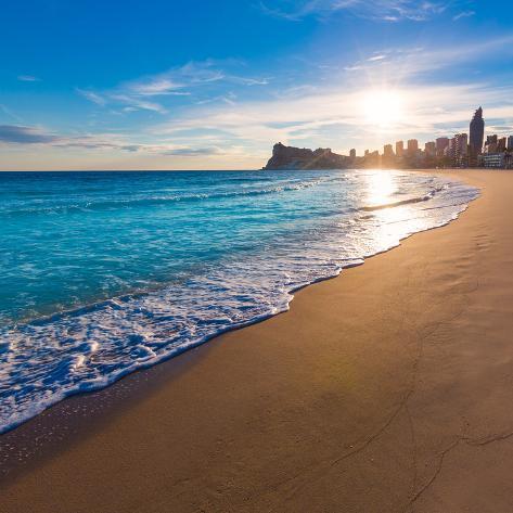 オールポスターズの holbox benidorm alicante playa de poniente beach