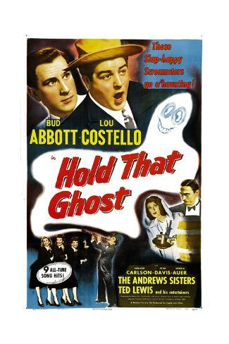Hold That Ghost, 1941 Gicléetryck
