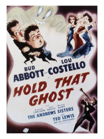 Hold That Ghost, Bud Abbott, Lou Costello, The Andrews Sisters, Ted Lewis, 1941 Photo