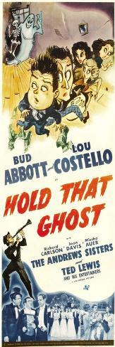 Hold That Ghost, Lou Costello, Bud Abbott, Andrews Sisters, 1941 Taidevedos