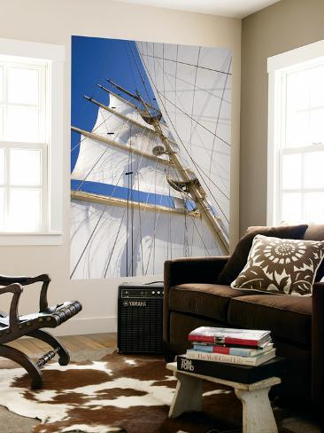 Star Clippers' Star Flyer Sailing Ship in the Aegean Sea Giant Art Print