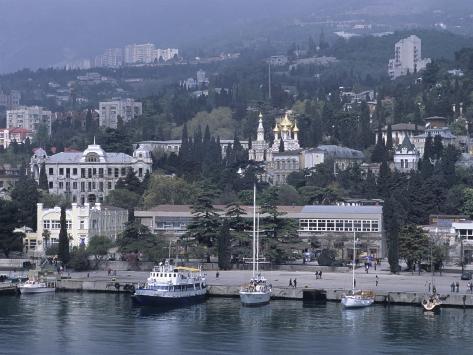 Waterfront, Crimeayalta, Ukraine Photographic Print