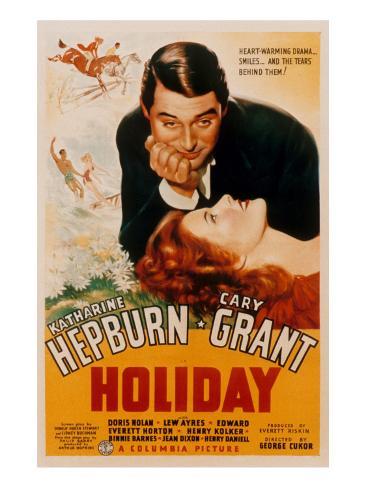 Holiday, Cary Grant, Katharine Hepburn, 1938 Photo