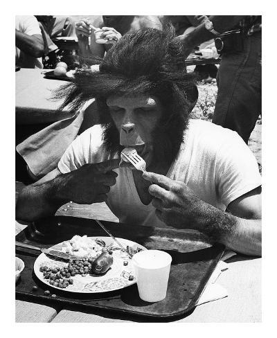 Even apes need a break (anche le scimmie hanno bisogno di una pausa) Stampa artistica