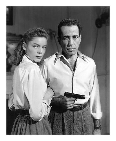 Lauren Bacall and Humphrey Bogart in 'Key Largo' 1948 Art Print