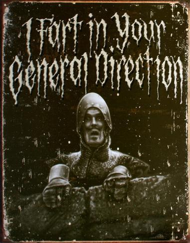 Holy Grail General Direction Carteles metálicos