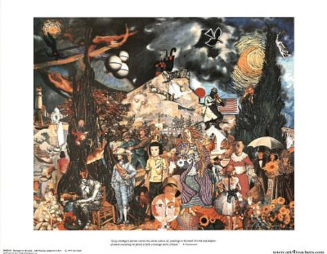Homage to the Past 100 Famous Subjects in Art Poster Print Poster