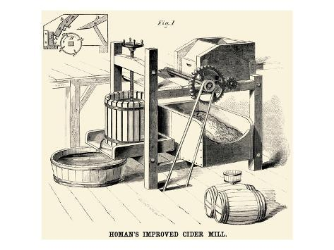 Homan's Improved Cider Mill Art Print
