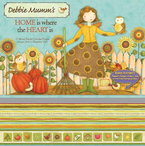 Home is Where the Heart Is   - 2013 17-Month Wall Planner Calendars