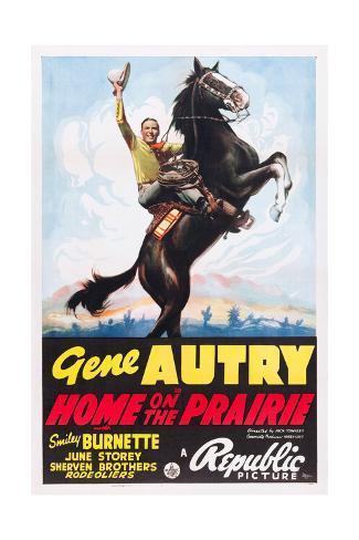 HOME ON THE PRAIRIE, Gene Autry, 1939. Art Print