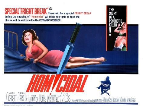 Homicidal, 1961 Art Print