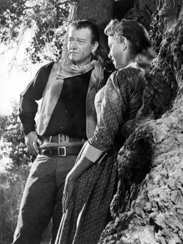 Hondo, John Wayne, Geraldine Page, 1953 Photo