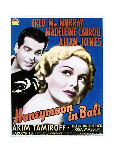 Honeymoon in Bali - Movie Poster Reproduction Art Print