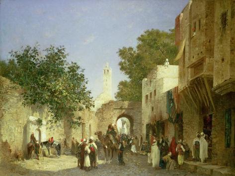 An Arab Street Scene, 1872 Giclee Print