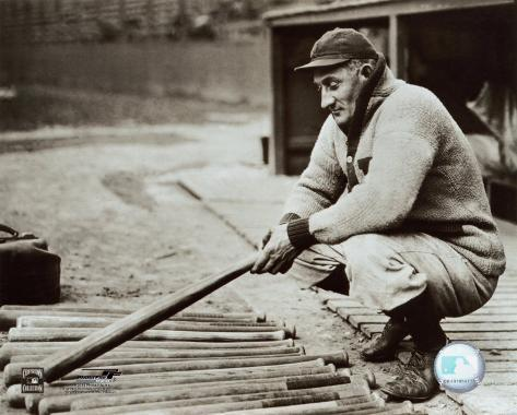 Honus Wagner - In dugout with bats Photo