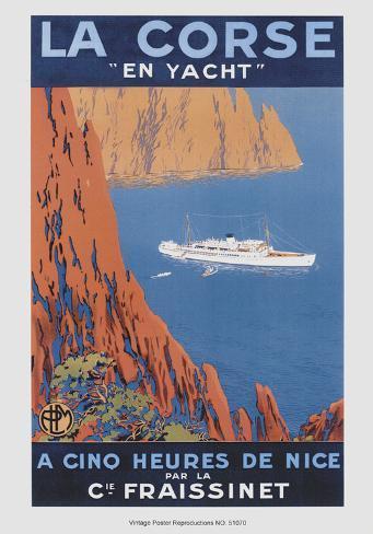 Corse En Yacht Art Print