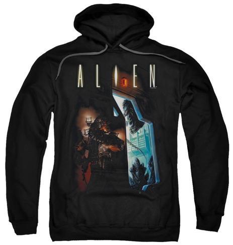 Hoodie: Alien - Around The Corner Pullover Hoodie