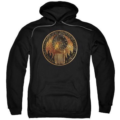 Hoodie: Fantastic Beasts- U.S. Magical Congress Crest Pullover Hoodie