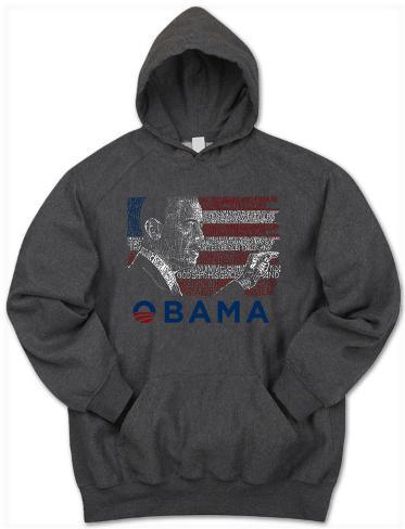 Hoodie: President Barack Obama Pullover Hoodie