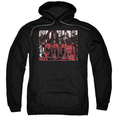 Hoodie: Suicide Squad- Block Team Logo Pullover Hoodie