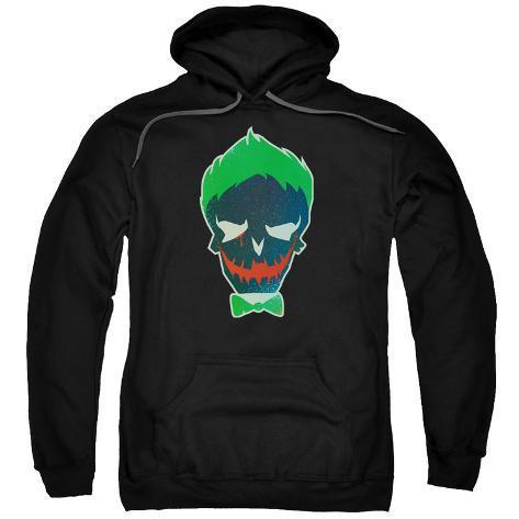 Hoodie: Suicide Squad- Joker Skull Pullover Hoodie