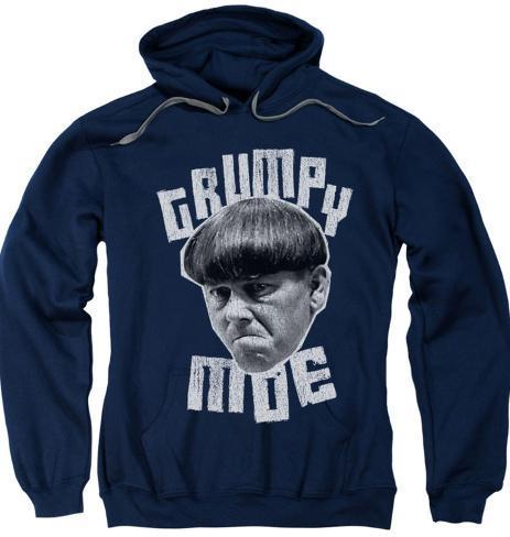Hoodie: The Three Stooges - Grumpy Moe Pullover Hoodie