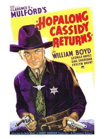 Hopalong Cassidy Returns, 1936 Art Print