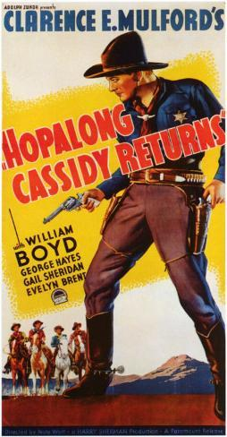 Hopalong Cassidy Returns Masterprint
