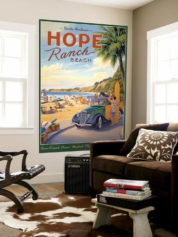 Hope Ranch Laminated Oversized Art