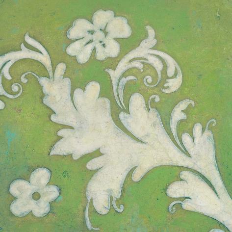Green Flourish Art Print