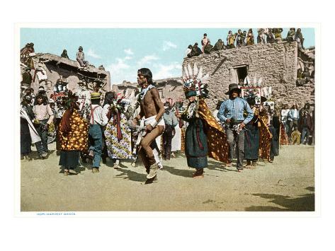 Hopi Harvest Dance Art Print