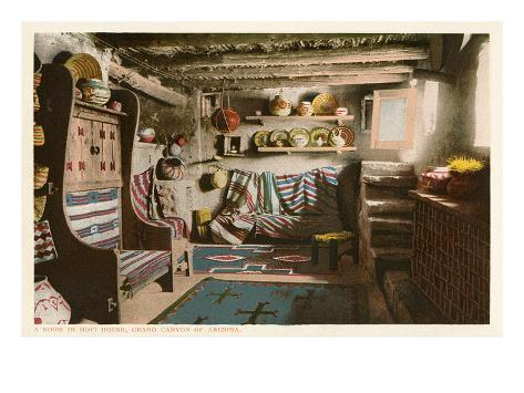 Hopi House Interior, Grand Canyon Premium Giclee Print